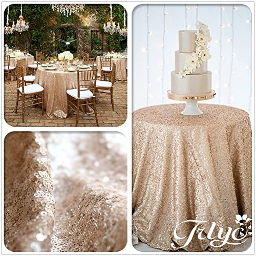 TRLYC New listing !!! Champagne Round Sparkly Sequin