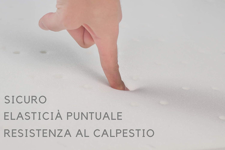 incluido protecci/ón contra la humedad y canales de ventilaci/ón 98x98 cm S/ämann/® Colch/ón para parque infantil 100 x 100 cm