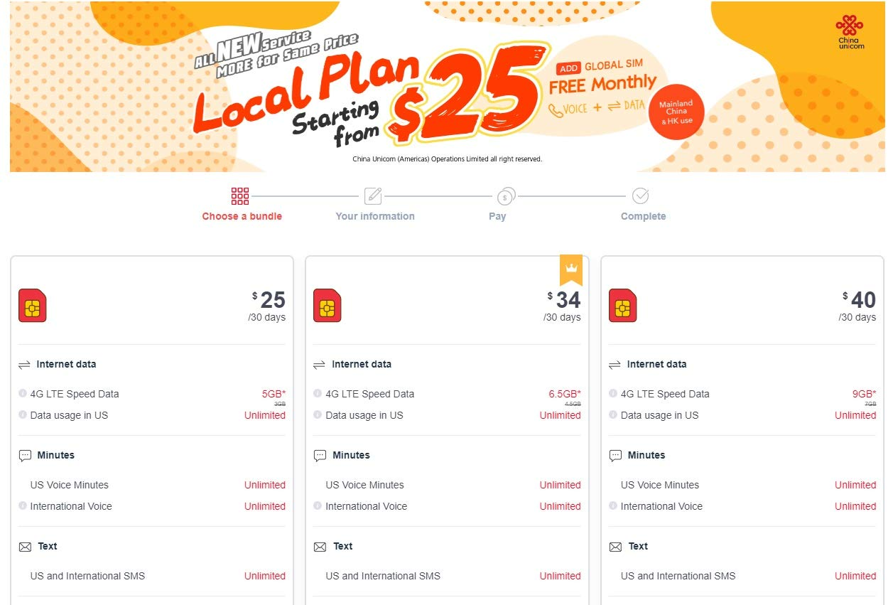 No Contract Prepaid SIM Card Starter Kit $25 Cuniq Local Plan 5 GB 4G LTE Data Plan Universal: Standard, Micro, Nano SIM 30 Days Unlimited Call