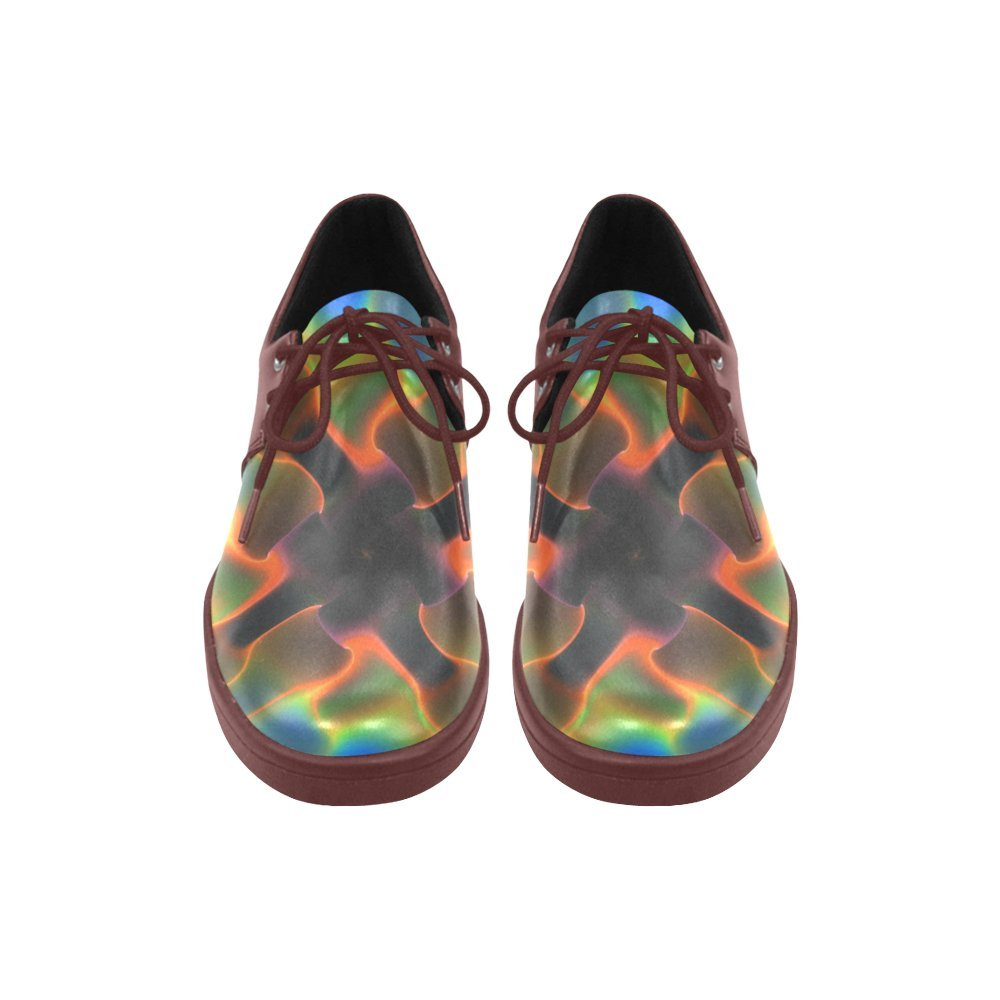 Rainbow Magic Cube Lace Up Mesh Cloth Casual Mens Shoes