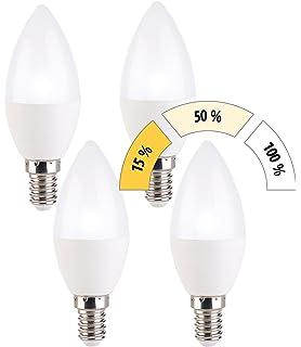 6 W LED E14 Kerzen Leuchtmittel warm weiß Stufen Dimmer Lampe 470 lm 3000 Kelvin