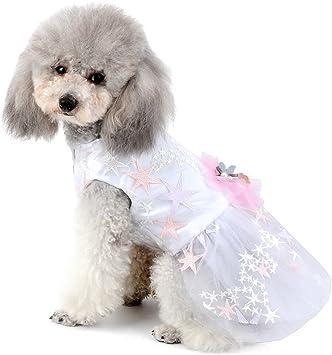 Katzenbekleidung Kost/üm Feier und Sommer R/üschen Prinzessinnen-Tutu-Rock mit Schleife Geburtstag Party Spitze M/ädchen Selmai Haustier-Hochzeitskleid f/ür kleine Hunde
