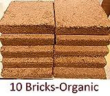 Coco Bliss Premium Coco Coir Brick 250g, OMRI Listed for Organic Use (10 Bricks)