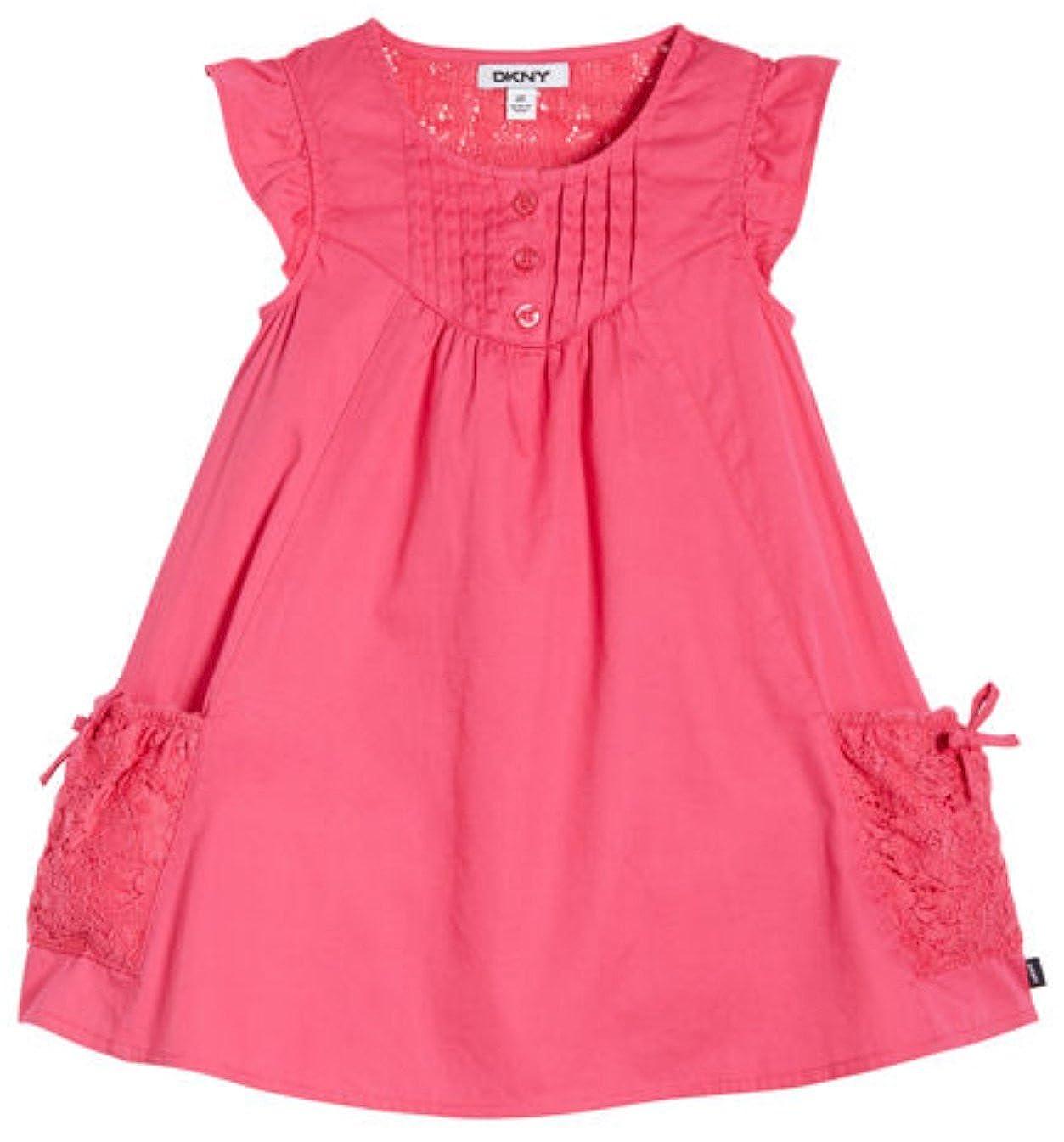 Dkny Little Girls Cottonlace Dress 6 Fuchsia At Amazon