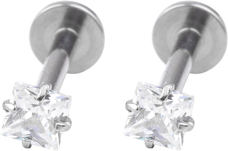 Stainless Steel Barbell Ear Cartilage Tragus Helix Stud Bar Earrings Piercing FY