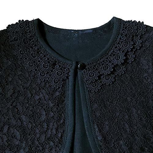 271ca13604e6 Jual CHENXIN Girl Shrugs Knit Long Short Sleeve Lace Bolero Cardigan ...