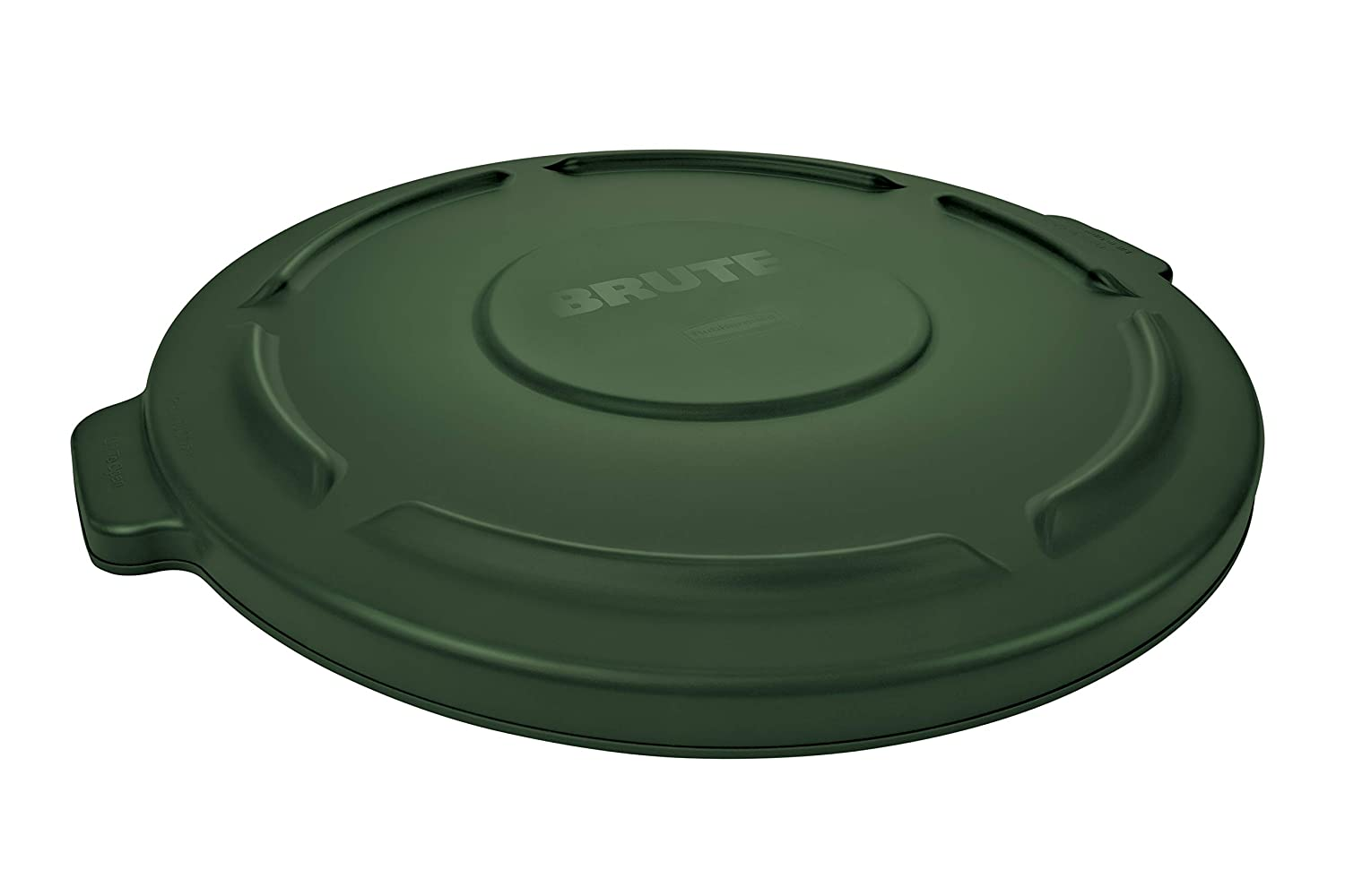 Rubbermaid Commercial Products FG263100DGRN Brute Heavy-Duty Round Trash/Garbage Lid, 32-Gallon, Green