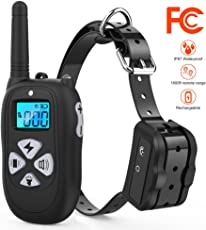 Tigygy Dog Training Collar 1800ft Remote Control [2018 Upgraded Version] Waterproof Rechargeable with Tone/Vibration/Electric Shock Modes for Small Medium Large Dogs