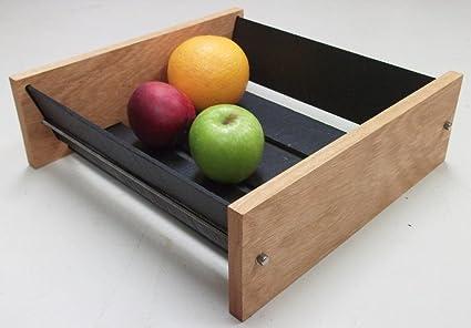 Handmade Natural Slate And Solid Oak Large Fruit Bowl Wooden Modern Designer Fruit Bowl By Oak Slate Design Amazon Co Uk Kitchen Home