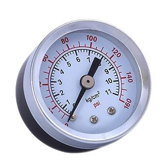 "Air Compressor Hydraulic Pressure Gauge 1.5/""Face Back Mount 1//8/"" NPT 160PSI USA"