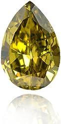 1.00Cts Fancy Deep Grayish Greenish Yellow Loose Diamond Natural Color Pear GIA