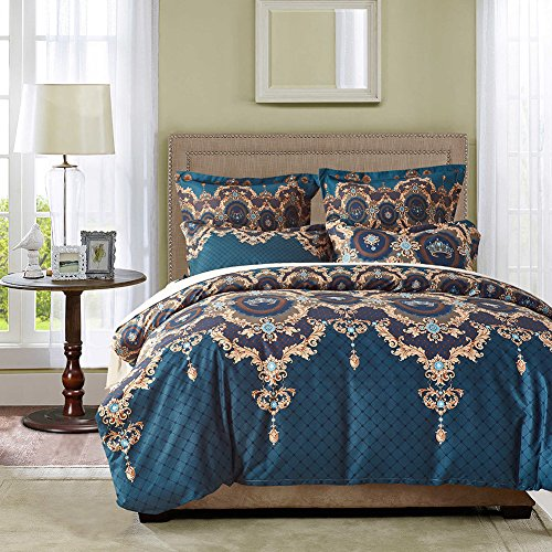Jacquard Bedding Sets - MeMoreCool Standard US Size Pillowcase and Duvet Cover 100% Healthy Polyester 3 PC Jacquard 500 Thread