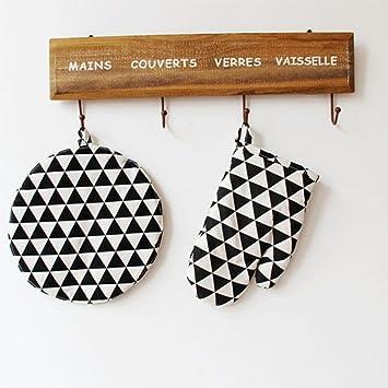 HUWAI YFK Utensilios de Cocina algodón y Lino colchones colchones colchones alfombras Ronda esteras en Blanco y Negro patrón Que Coincide con Horno de ...