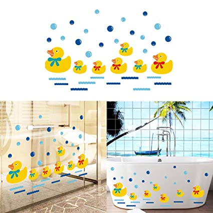 Amazon Com Luckycivia Cute Yellow Ducks Wall Art Stickers For Baby