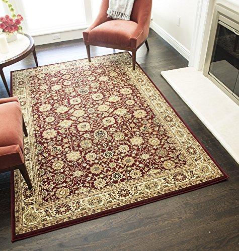 (Rugs America New Vision Area Rug, 5-Feet 3-Inch by 7-Feet 10-Inch, Tabriz Cherry)