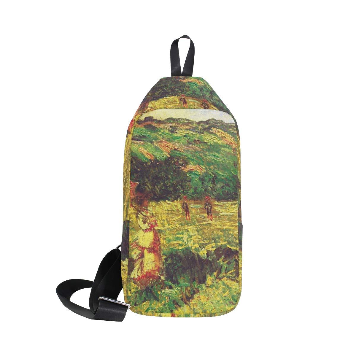 AHOMY Monets The Promenade Near Limetz Messenger Bag Small Travel School Sling Bag Crossbody Bag