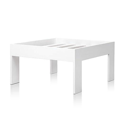 SUENOSZZZ - Sofa Jardin de Madera de Pino Color Blanco, MEDITERRANEO Mod. chaiselonge. Muebles Jardin Exterior. Silla para Patio y terraza. Sillon sin ...