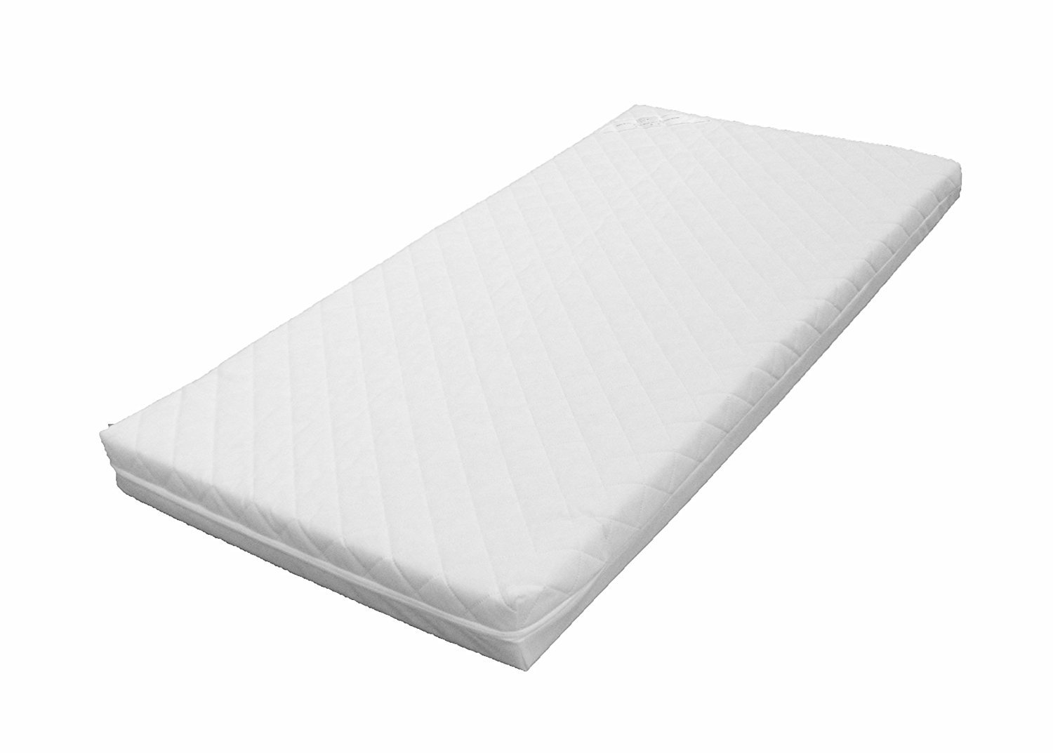 KATY® Superior Eco Fibre 140 x 70 x 10cm Thick Cot Bed Mattress With Freshtec Quilted Cover - Will Fit M& P Cot Beds 400 Size As Well As Other Makes. British Made