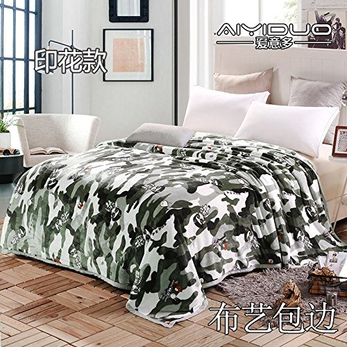 Znzbzt small blanket afternoon nap office single cute mini cover and small blankets winter student adult thick warm ,180x200cm [thick package of health, special forces