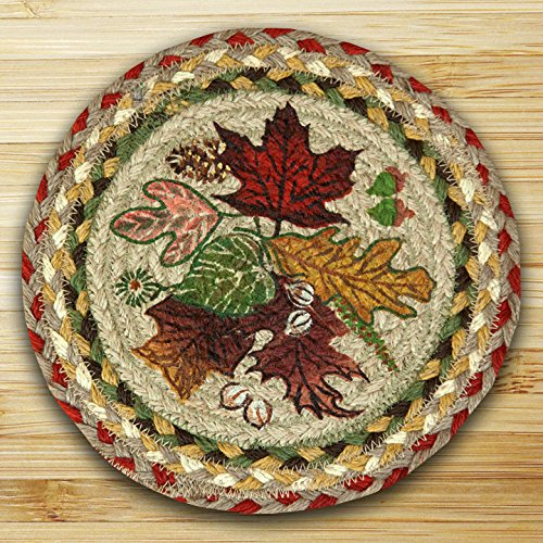 Earth Rugs 80-024AL Trivet, 10-Inch, Olive/Burgundy/Gray