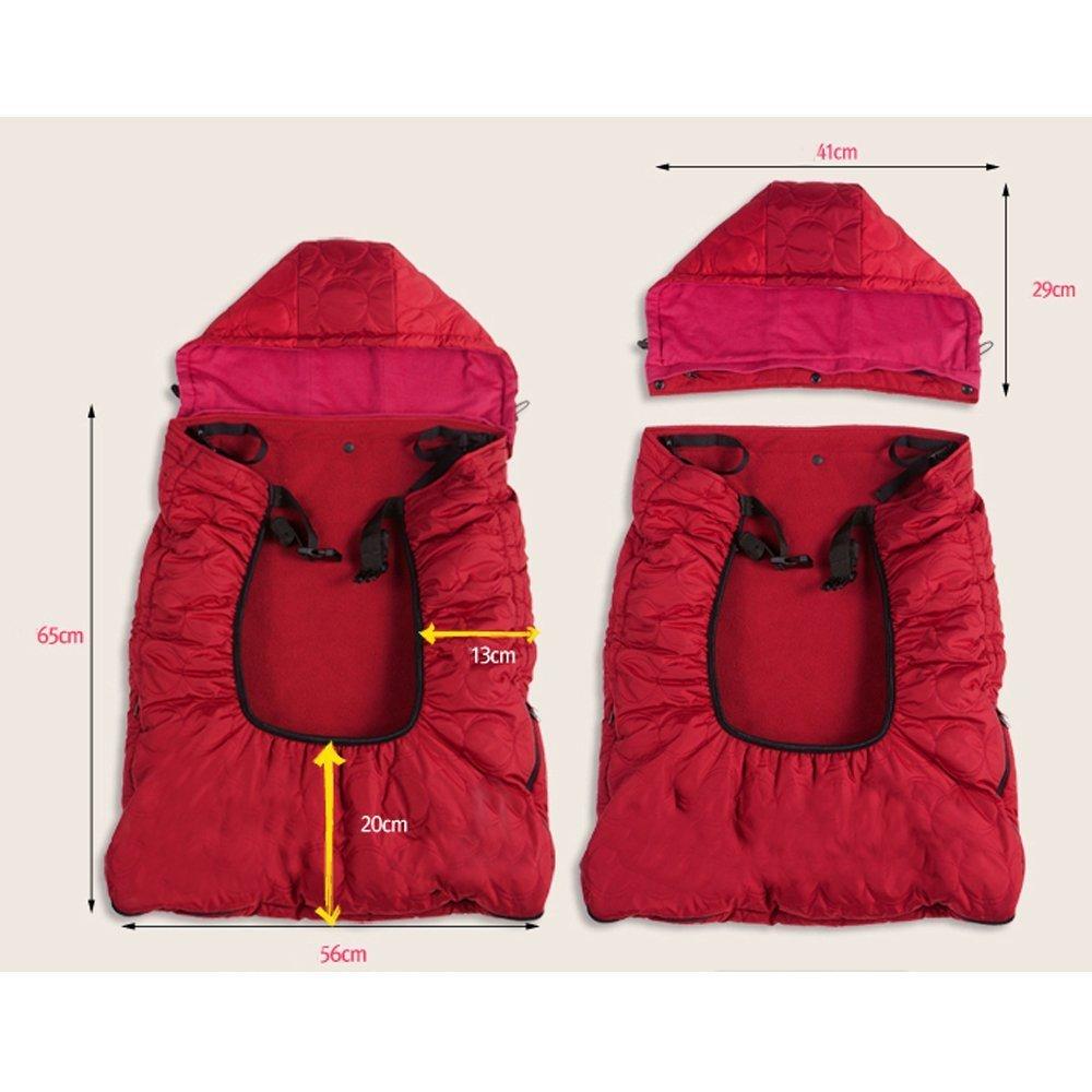 bebear Copertura Carrier Bebamour universale con cappuccio All Seasons per la copertura di Carrier bambino per linverno caldo grigio scuro