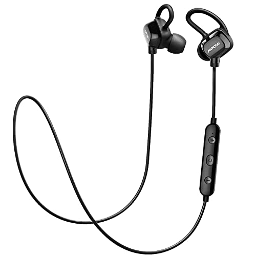 Mpow Running Headphones [Ultra Light] Wireless Running Earphones Sports Bluetooth Headphones, Upgraded Wearing Comfort Sweatproof Earbuds for iPhone Samsung Huawei LG, etc. (Bluetooth 4.1, Carrying Case Included, Black)