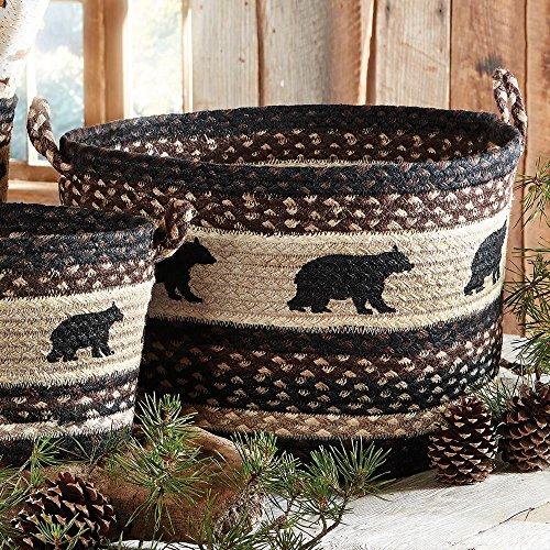Black Bear Braided Utility Rustic Basket - Large