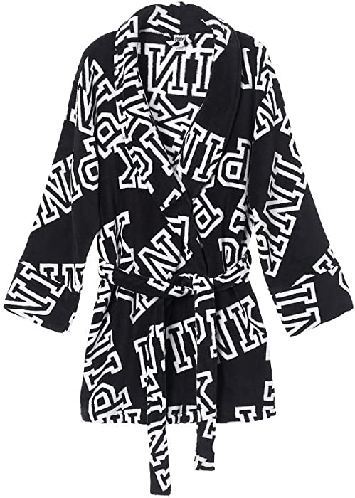 d3e1695d27 Victoria s Secret Pink Cozy Robe Black Font Print (X-Small Small) at ...