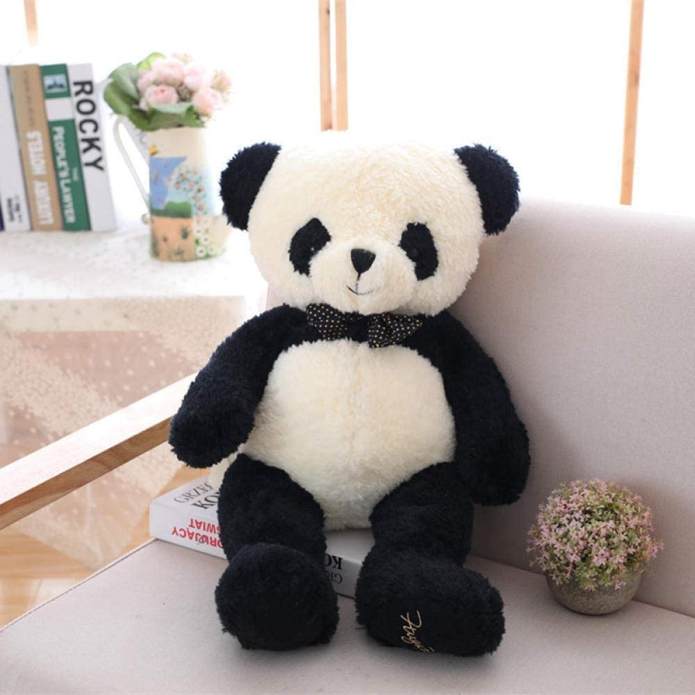 Amazon Com Plush Toy New Bow Tie Panda Doll Panda Plush Toy Zhaozb Color Panda Doll Size 80cm Home Kitchen