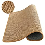 M&MKPET Natural Sisal Cat Scratcher Mat,Scratch Pad for Cat Grinding Claws & Protecting Furniture (23.6' 23.6')