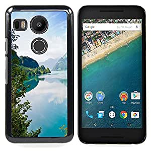 - Tourquise Blue Lake/ Hard Snap On Cell Phone Case Cover - Cao - For LG Google Nexus 5X