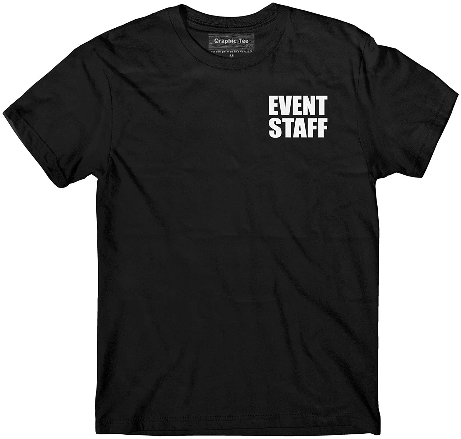 Smart People Clothing Event Staff t-Shirt Event Staff Uniform Staff t-Shirt Black Event Staff Shirt