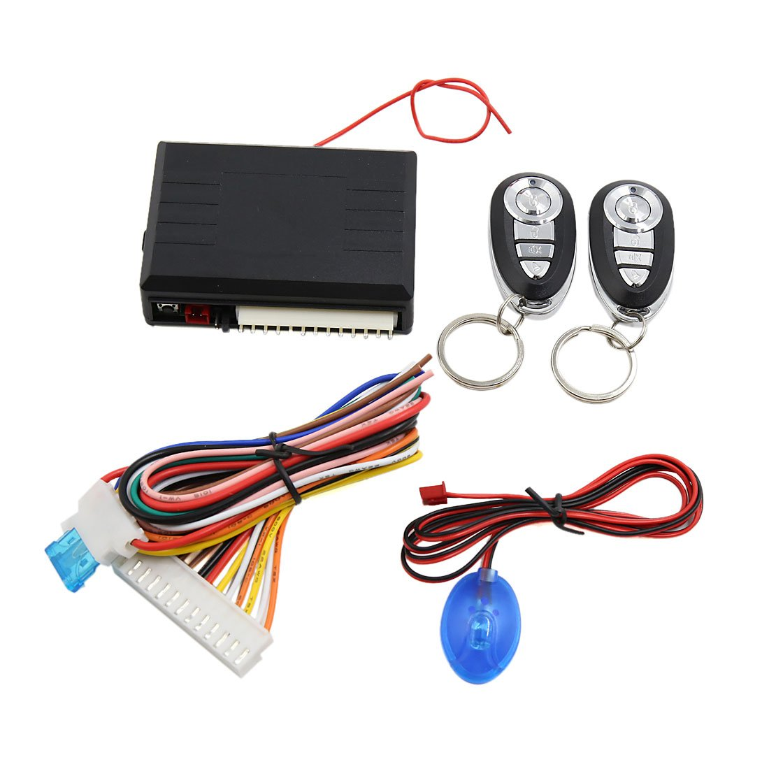 uxcell Car Remote Central Kit Door Lock Locking Keyless Entry Alarm System 12V