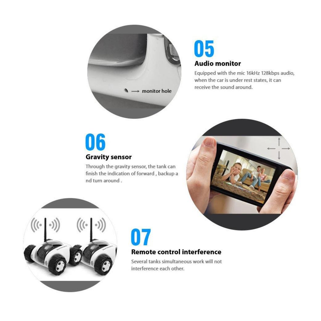 Vibola Remote Control Car Wireless remote control car camera that movement parent-child intelligent (white -O) by Vibola® (Image #6)