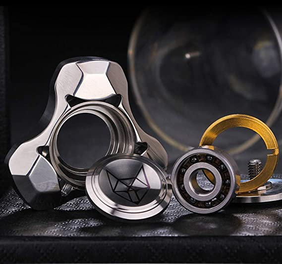 TeRIydF Spinner Hand Spinner///Trois///Feuilles gyro Metal Spinner Adulte d/écompression artefact Doigt gyro