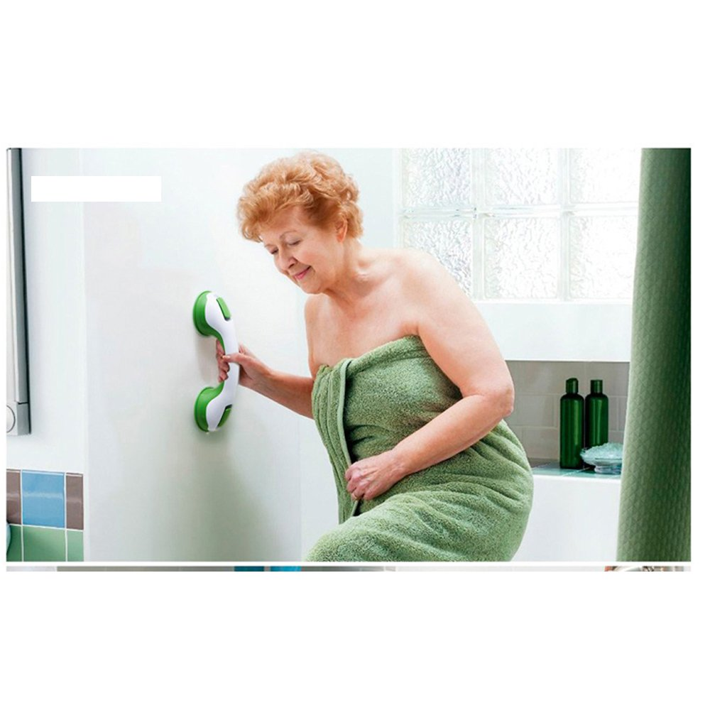 Grab Bar Shower Handle Bar Bathtub Safety Handrail Anti-Slipping Handle-Bath Support with Strong Suction Grip/Cup Bar for Bathroom- Assist Balance Handrail for Tub & Toilet Safety - for Elderly, Senio by G&D Trading
