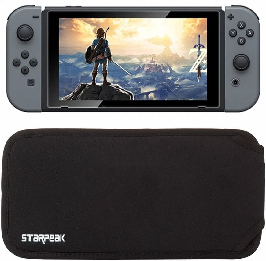 Soft Carry Case For Nintendo Switch, Starpeak Switch Soft Bag Carrying Sleeve Case Travel Bag Protective Pouch Bag (Black) by Star