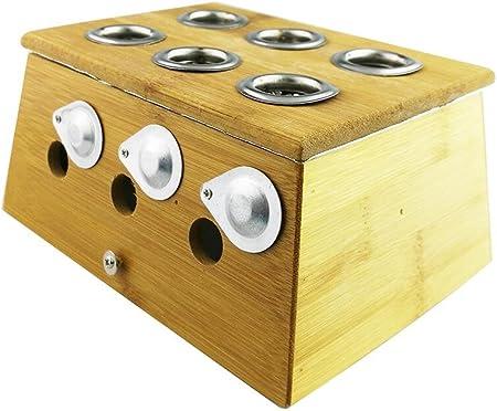 Winterworm® Bambú Caja De Curación para Moxa Moxibustión medicina terapia, Six Hole: Amazon.es: Hogar