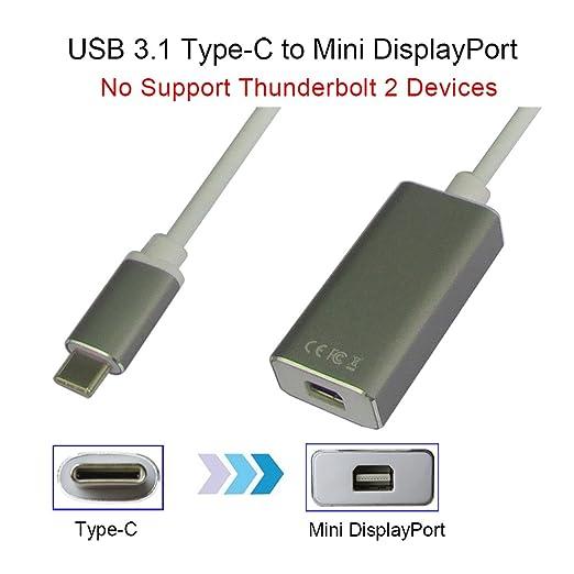4 opinioni per USB 3.1 Tipo C a Mini DisplayPort / Mini DP Adaptador Cable Con Caso di