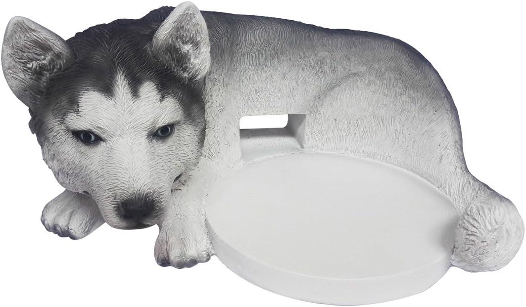 FitSand Husky Dog Crafted Statue Speaker Stand Holder Guard Station for Google Home