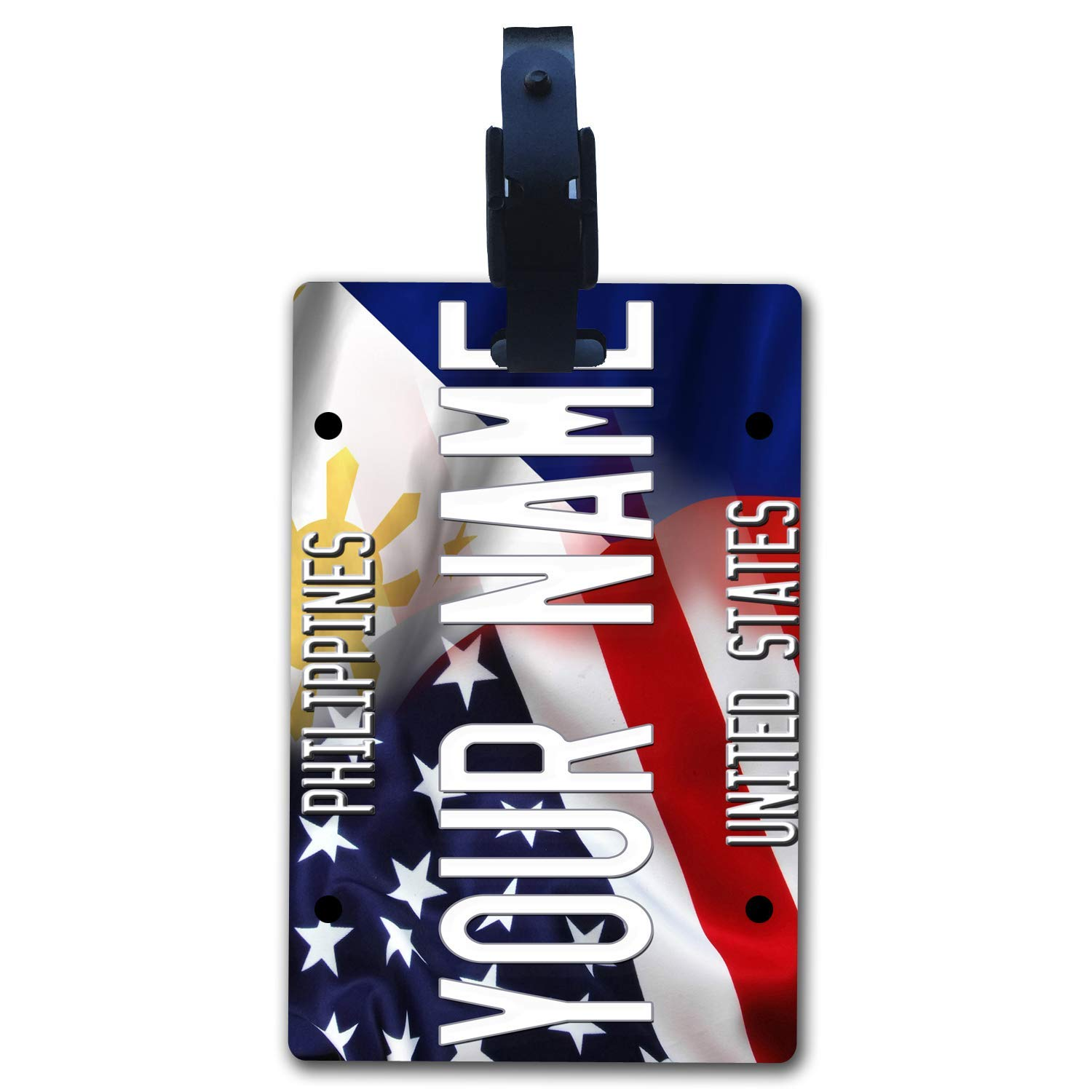 BRGiftShop Personalize Your Own Hockey Team Nashville Luggage Tag with Address Card Holder