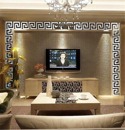 ❀❀❀ Wall sticker HongXander 10pcs Acrylic Mirror Stickers,DIY Modern Acrylic Plastic Mirror Sticker Ar-hall Bedroom (Silver)
