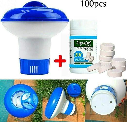 FOCCTS 100g tabletas de cloro limpiador de piscina, bañera de ...