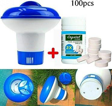 FOCCTS 100 tabletas de cloro limpiador de piscina, bañera de ...