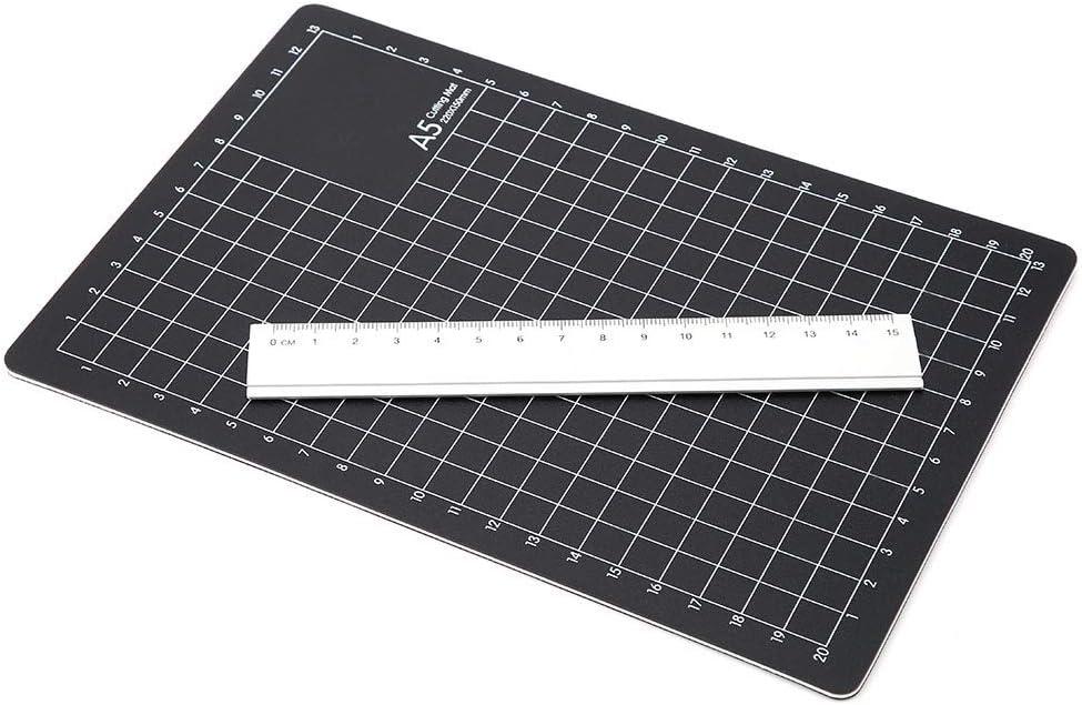 1pc Manual Cut Pad Metal Ruler Engraving Pen Cutting Mat Set Cutting Tool DIY for Handicraft Paper Carving Modeling Mouse Pad #1 A5 PVC Engraving Set
