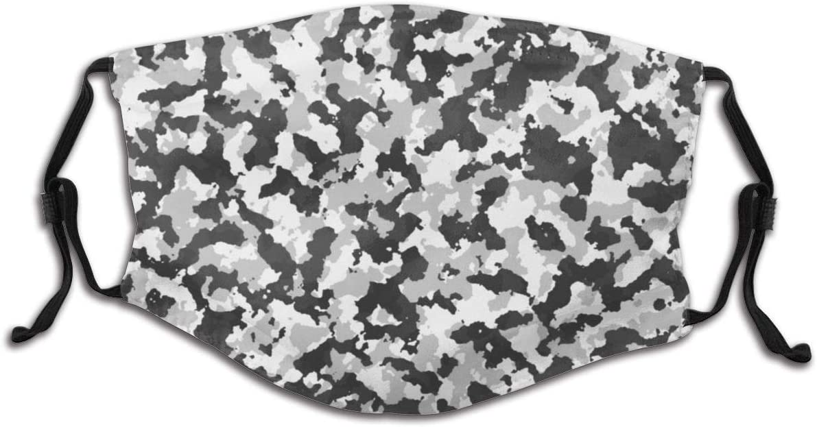 Olive Croft Face Protector Mouth Cover Camouflage Tarn Texture Graphic With Filter