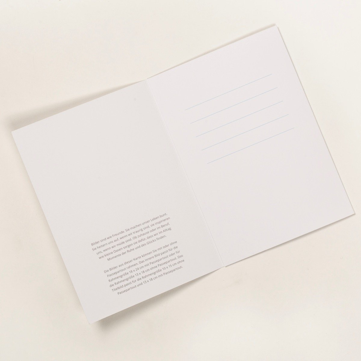 "Venia Design DIN A 5 sechs-seitige Kunstdruck - Grußkarte ""Alles ..."