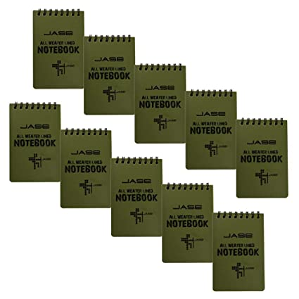 Amazon Com Cugbo 10 Pack Waterproof Notebook All Weather Pocket