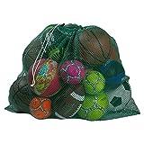 Mesh Equipment Bag, Green - 32 x 36 - Adjustable, sliding drawstring cord closure. Perfect mesh bag for parent or coach, making