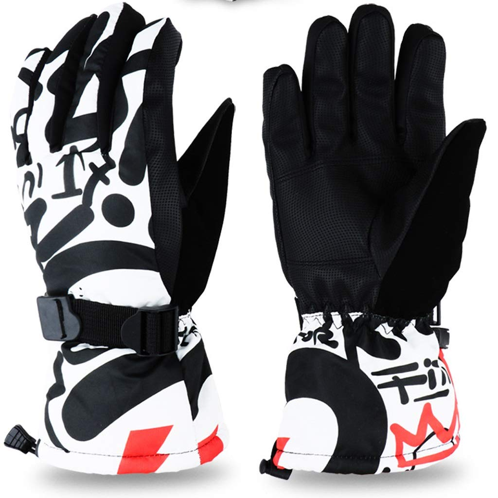 AsDlg Winter Ski Gloves, Upgraded Warmer Skiing Gloves, Waterproof & Windproof Thermal Gloves for Skiing, Snowboarding, Shredding, Snowballs (Color : D, Size : M)